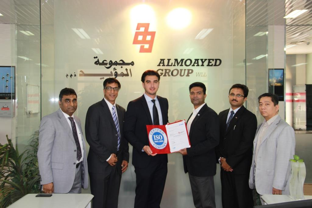 Almoayed Group WLL renews & upgrades its ISO 9001:2008 Certification